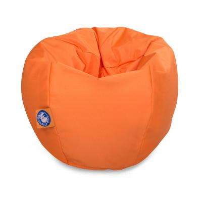 Stratus Bean Bag Swimming Pool Float in Orange, Nylon Fabric