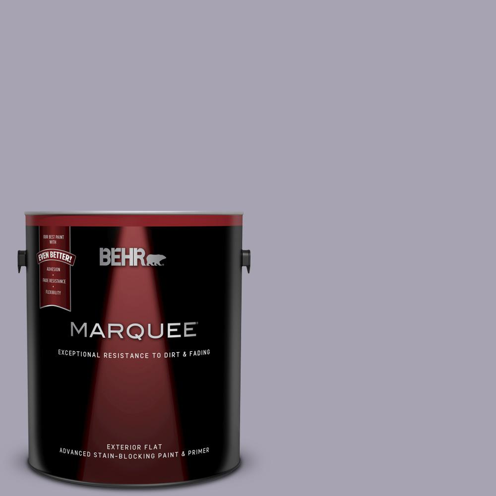 Behr Marquee 1 Gal N560 3 Luxe Lilac Flat Exterior Paint And Primer In One 445401 The Home Depot