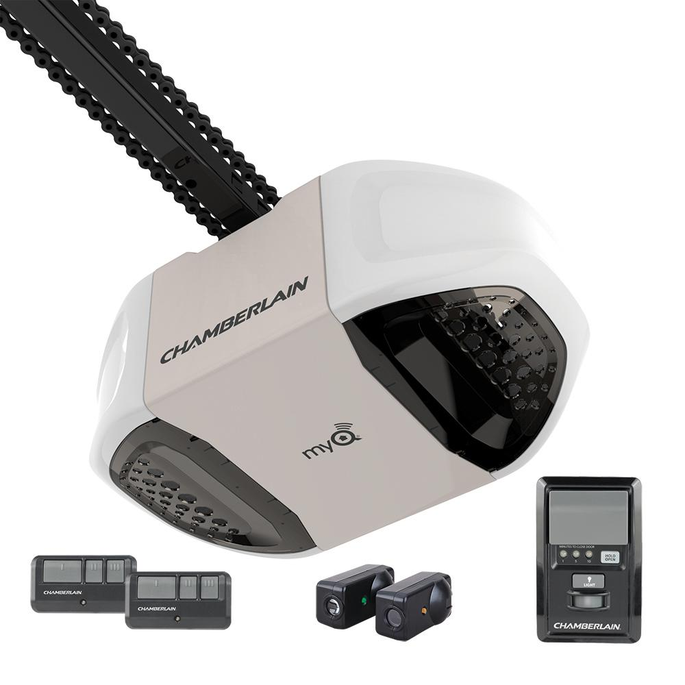 wifi garage door opener genieChamberlain 34 HP MyQ Chain Drive Garage Door OpenerPD762EV