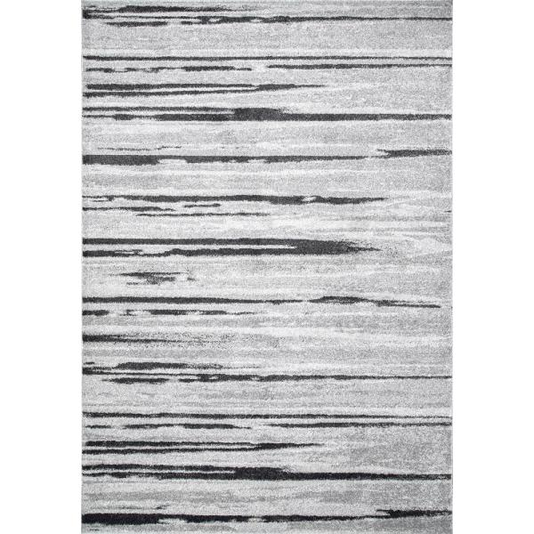 Rustic Stripes Gray 7 ft. x 9 ft.  Area Rug