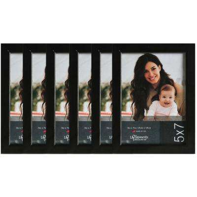 6-Opening 5 in. x 7 in. Picture Frame