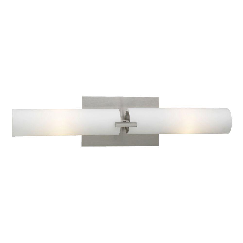 Claude 2-Light Satin Nickel Bath Vanity Light