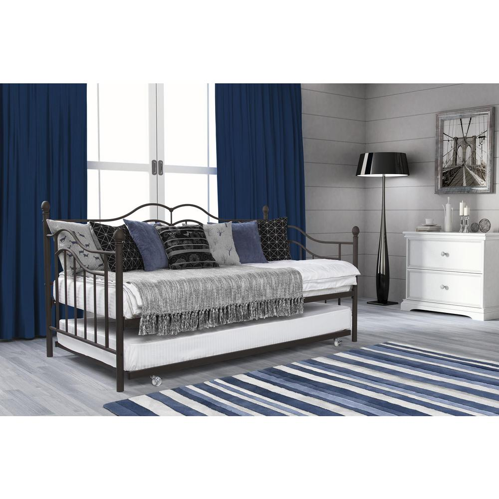 Tokyo Brushed Bronze Trundle Day Bed