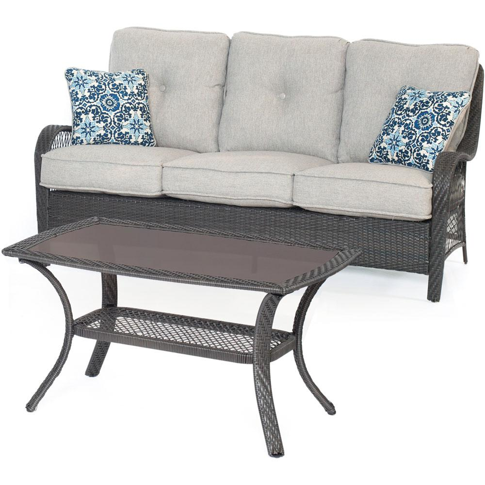 Prime Hanover Orleans Grey 2 Piece All Weather Wicker Patio Conversation Set With Silver Lining Cushions Caraccident5 Cool Chair Designs And Ideas Caraccident5Info
