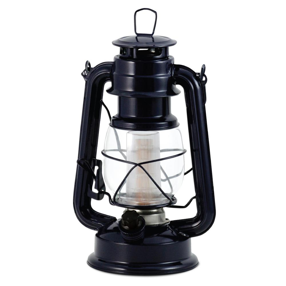 Vintage Blue Battery Operated Led Lantern 2 Pack