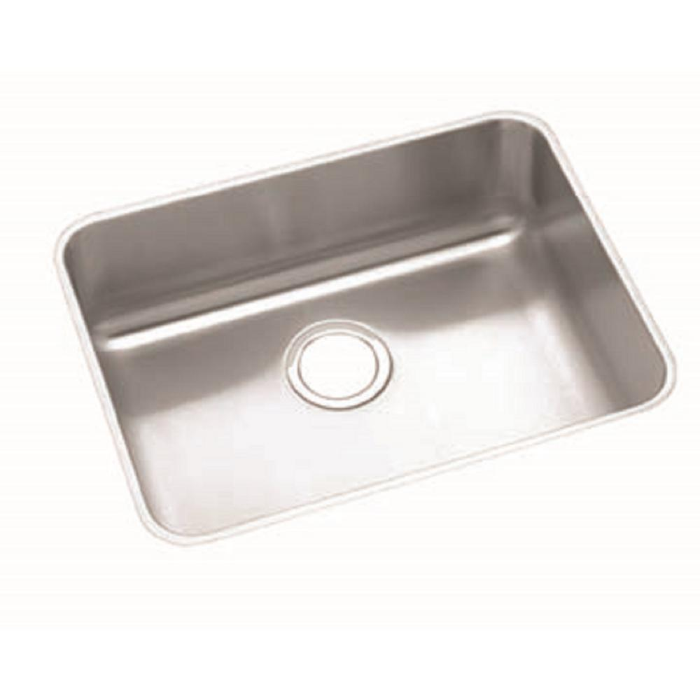 elkay sinks kitchen elkay lustertone undermount stainless steel 24 in single 3558