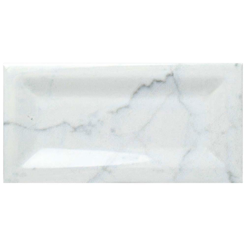 Merola Tile Clico Carrara Glossy Inmetro 3 In X 6 Ceramic Wall