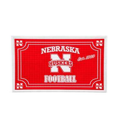 University of Nebraska 18 in. x 30 in. Embossed Welcome Mat