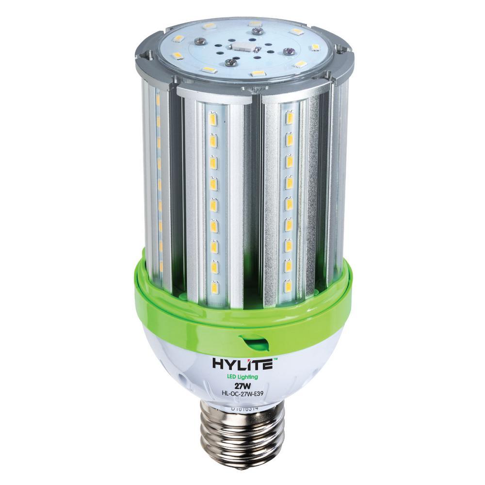 27W omni-cob LED Lamp 150W HID Equiv 5000K 3780 lumens Ballast Bypass 120-277V E39 Base IP 65 UL & DLC Listed (1-Bulb)