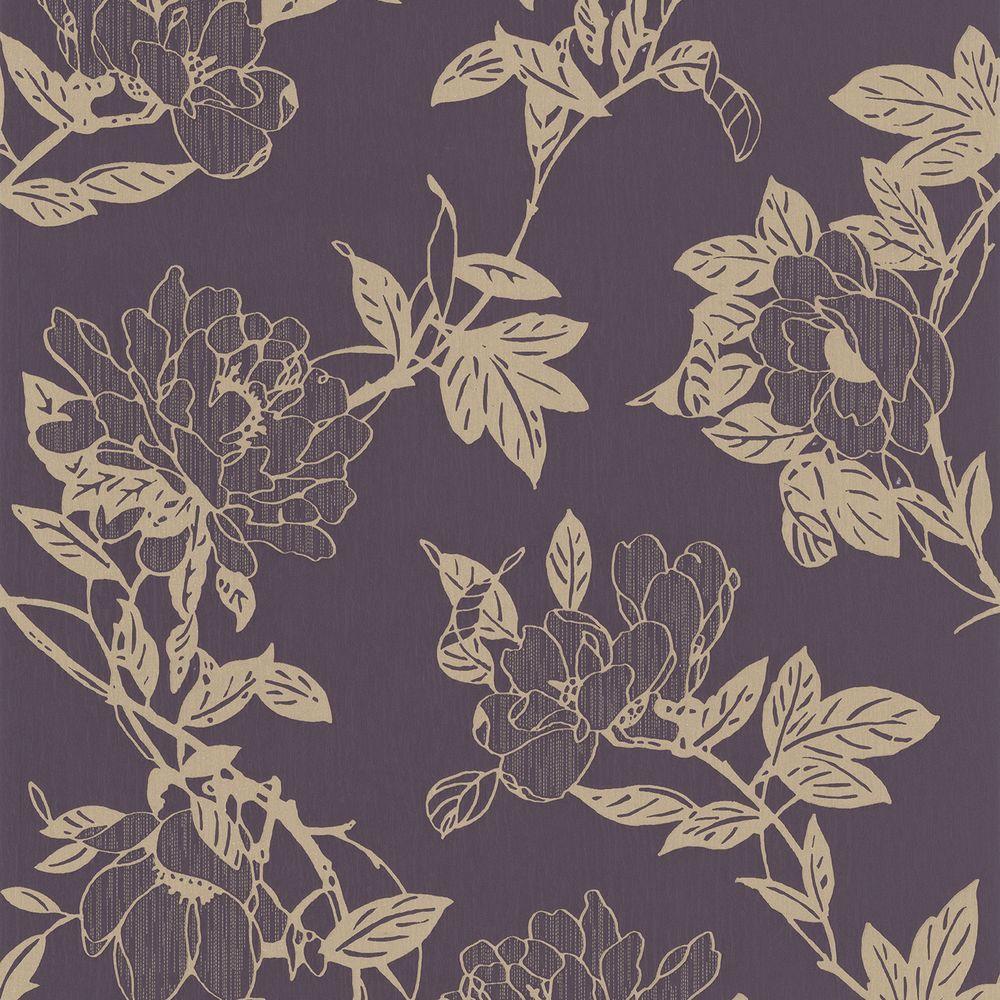 Graham & Brown 56 sq. ft. Jiao Purple Wallpaper