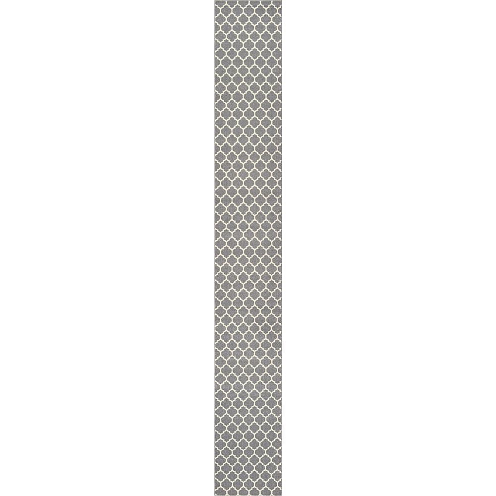 Trellis Philadelphia Gray/Beige 2' 7 x 19' 8 Runner Rug
