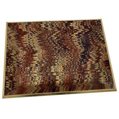 2 in. Brown Glass Rectangle Decorative Tray