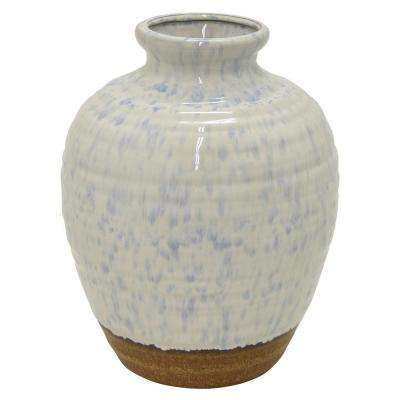 18.1 in. White Ceramic Decorative Vase