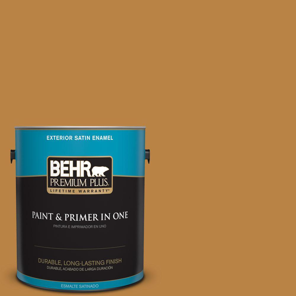 1-gal. #M270-7 Wild Ginger Satin Enamel Exterior Paint