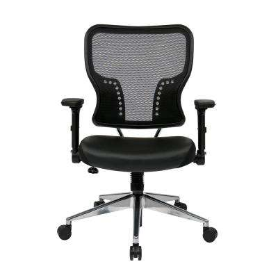 Air Grid Black Mesh Back and Bonded Leather Seat Chair