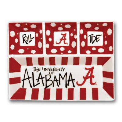 Alabama Ceramic 4 Section Tailgating Serving Platter
