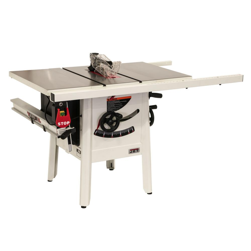 Jet ProShop II 10 in. table saw with 30 in. Rip Cast Wings JPS-10