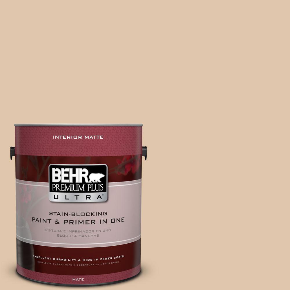 BEHR Premium Plus Ultra 1 gal. #S260-2 Pumpkin Seed Matte Interior Paint