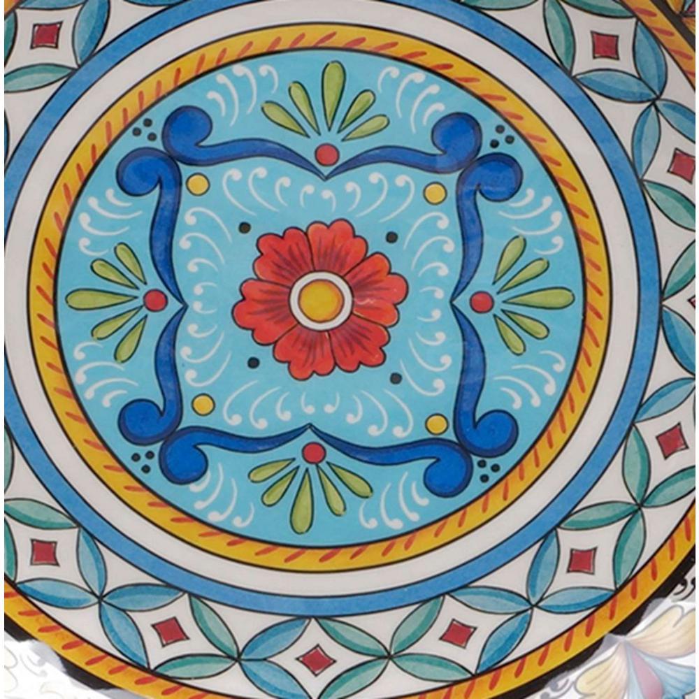 Portofino 7.5 in. x 2 in. 6-Piece Multi-Colored Earthenware All-Purpose Bowl