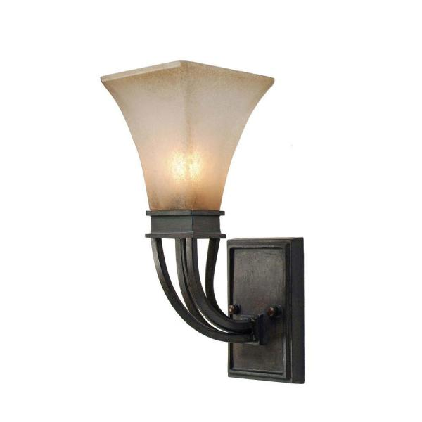 Darcy Collection 1-Light Roan Timber Sconce