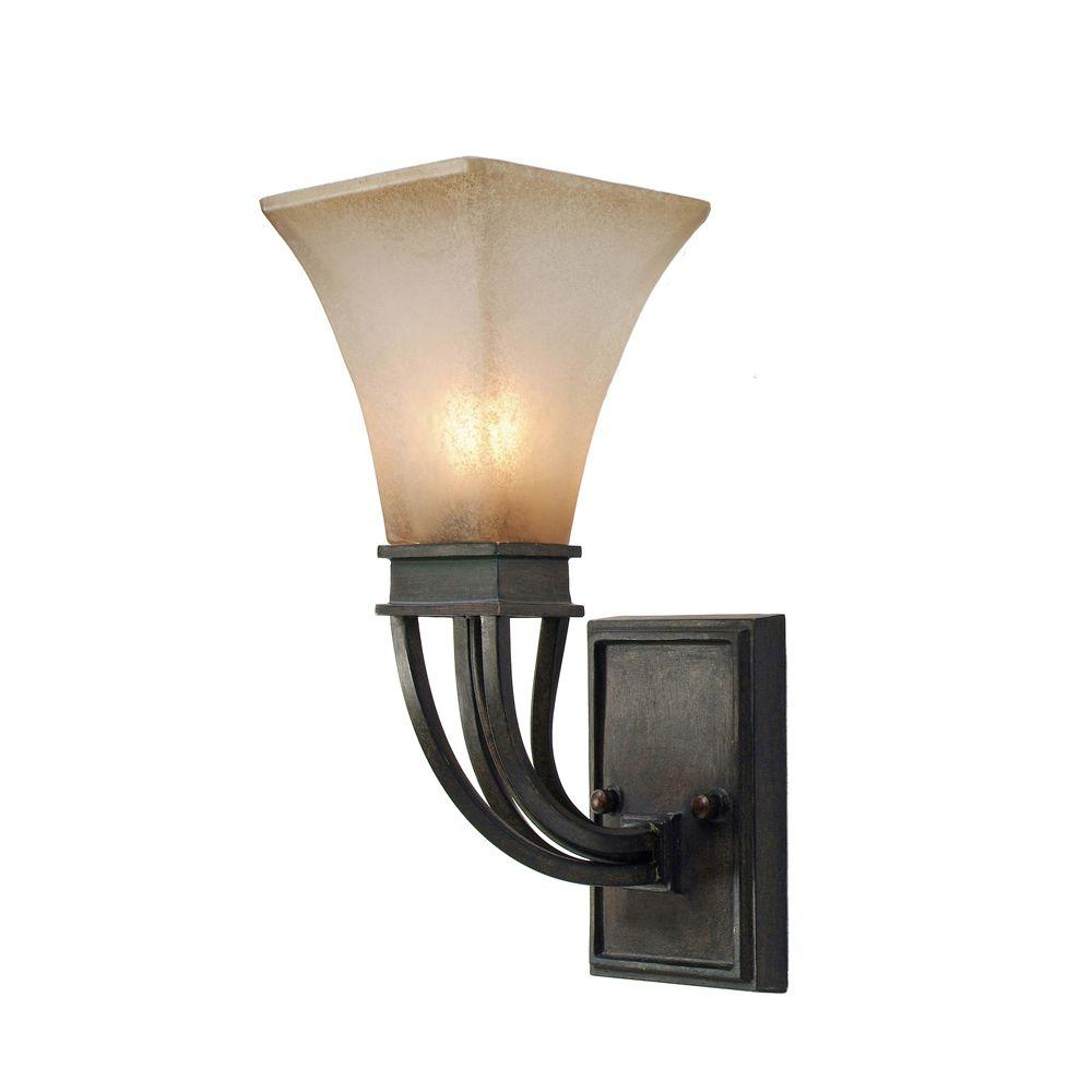 null Darcy Collection 1-Light Roan Timber Sconce