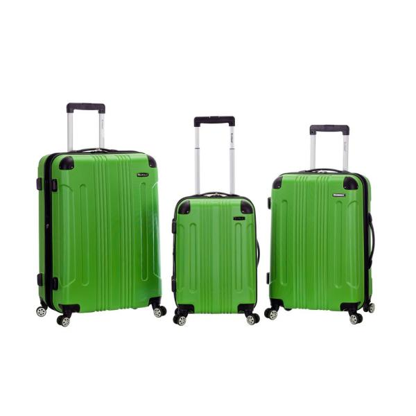 Rockland Rockland Sonic 3-Piece Hardside Spinner Luggage Set, Green F190-GREEN