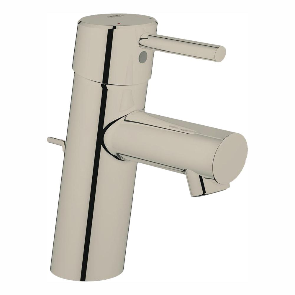 Grohe Concetto Single Hole Single Handle Bathroom Faucet In Nickel Infinity Finish 34270ena