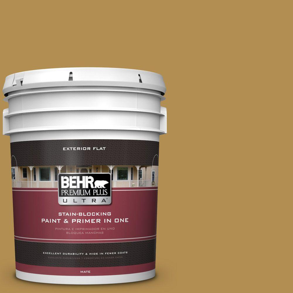 BEHR Premium Plus Ultra 5-gal. #350D-6 Bronze Green Flat ...