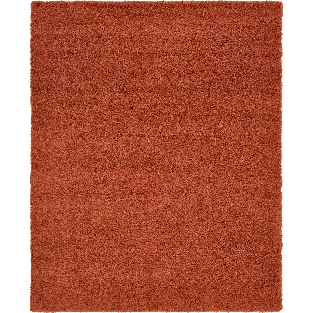 Solid Shag Terracotta 8 Ft. X 10 Ft. Area Rug by Unique Loom