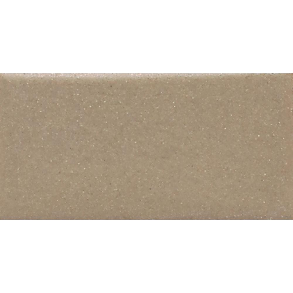 Modern Dimensions Matte Elemental Tan 4-1/4 in. x 8-1/2 in. Ceramic