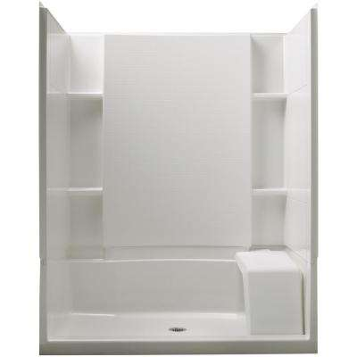 Accord 36 In X 60 74 1 2 Standard Fit Shower Kit With Seat White