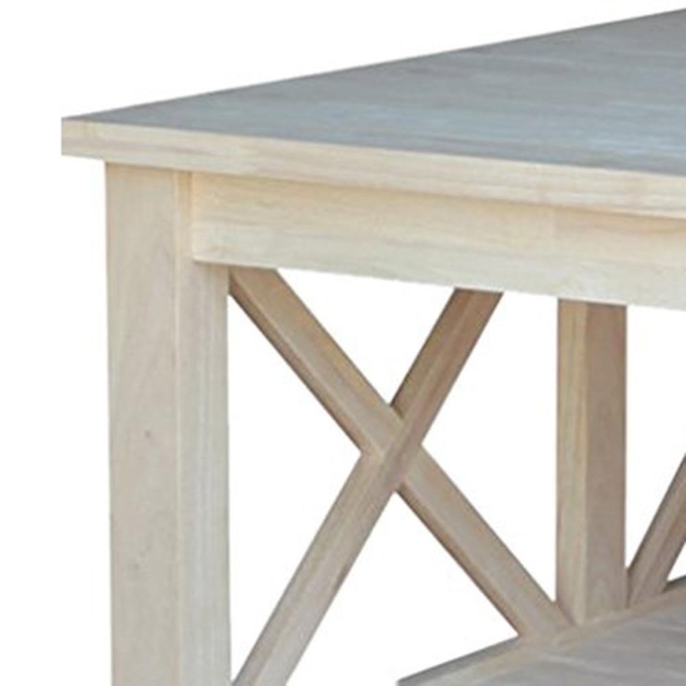 408d3c730d9b International Concepts Hampton Unfinished Coffee Table-OT-70SC - The ...