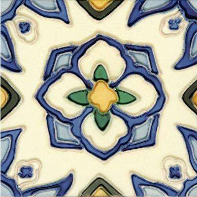 Hand-Painted Jirasol Deco 6 in. x 6 in. Ceramic Wall Tile (2.5 sq. ft. / Case)