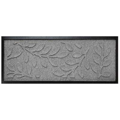 Medium Gray 15 in. x 36 in. Brittany Leaf Boot Tray