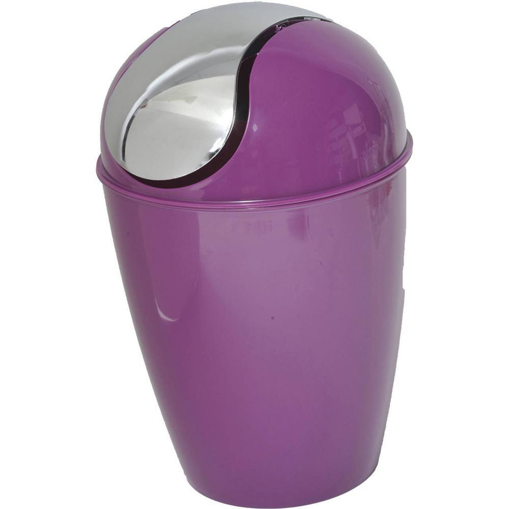 4.5 l/ 1.2 Gal. Round Bath Floor Trash Can Waste Bin in Purple