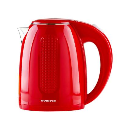 7-Cup Red Stainless Steel BPA-Free Electric Kettle with Auto Shut-Off and Boil-Dry Protection
