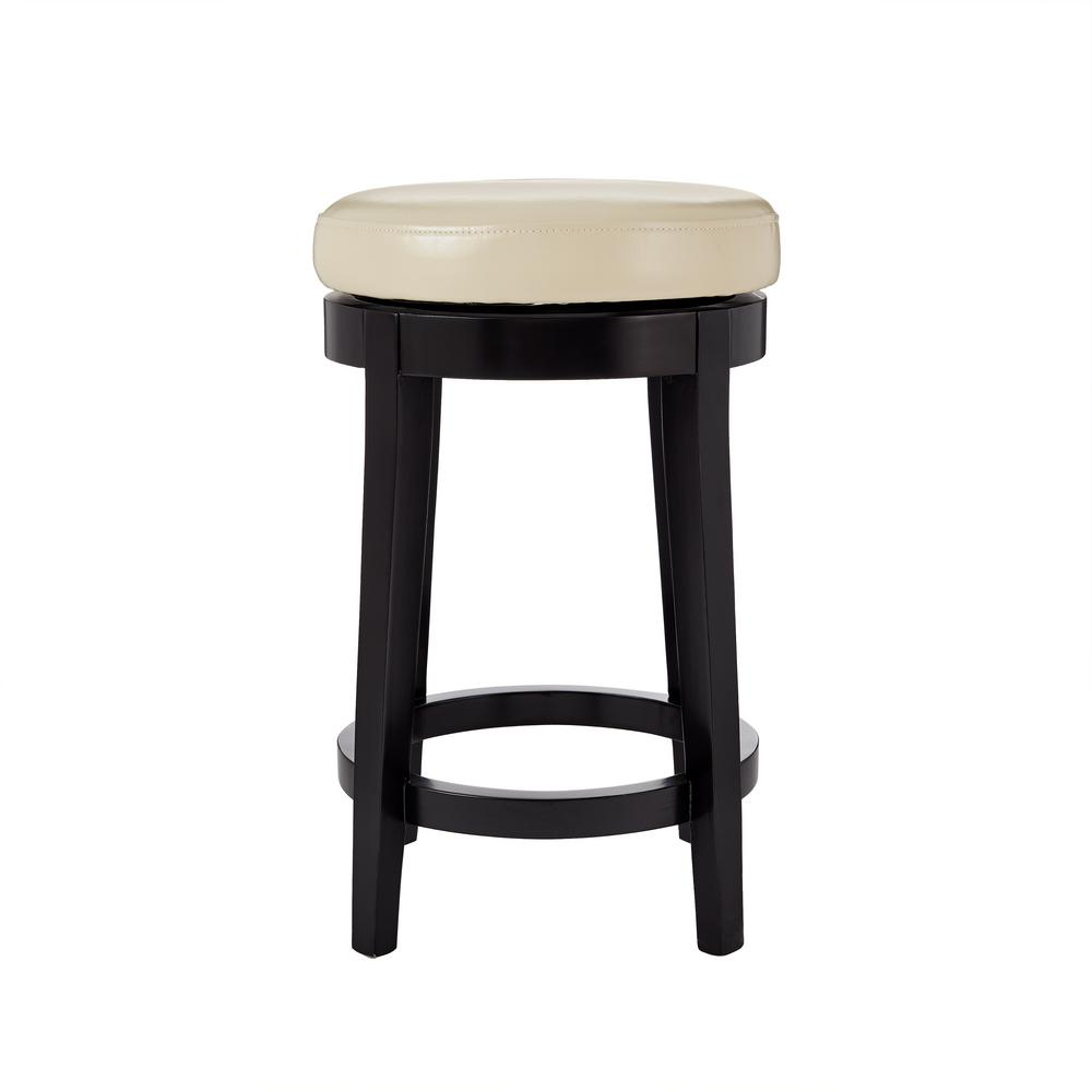 Home decorators collection 24 in black swivel cushioned bar stool