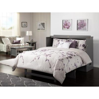 Deerfield Murphy Bed Chest Queen Atlantic Grey with Charging Station