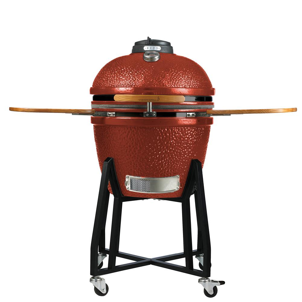 HD Series Charcoal Kamado Grill in Red