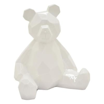 17.75 in. Teddy Bear White White