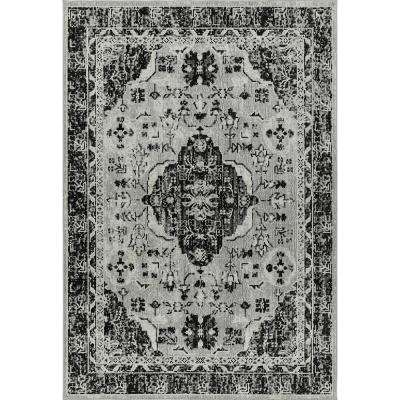 Patio Country Gray 5 ft. 2 in. x 7 ft. 2 in. Indoor/Outdoor Area Rug