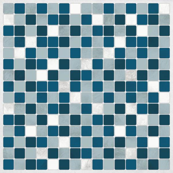 Brewster Blue Peel and Stick Decal Tiles CR-31315