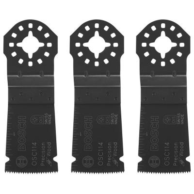 1-1/4 in. HCS Plunge Cut Precision Blade (3-Pack)