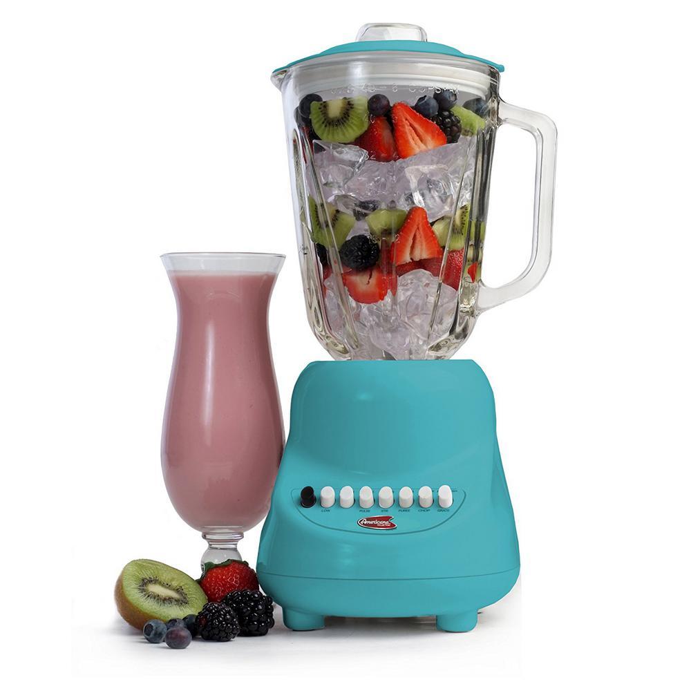 10-Speed Blender with 48 oz. Blue Glass Jar