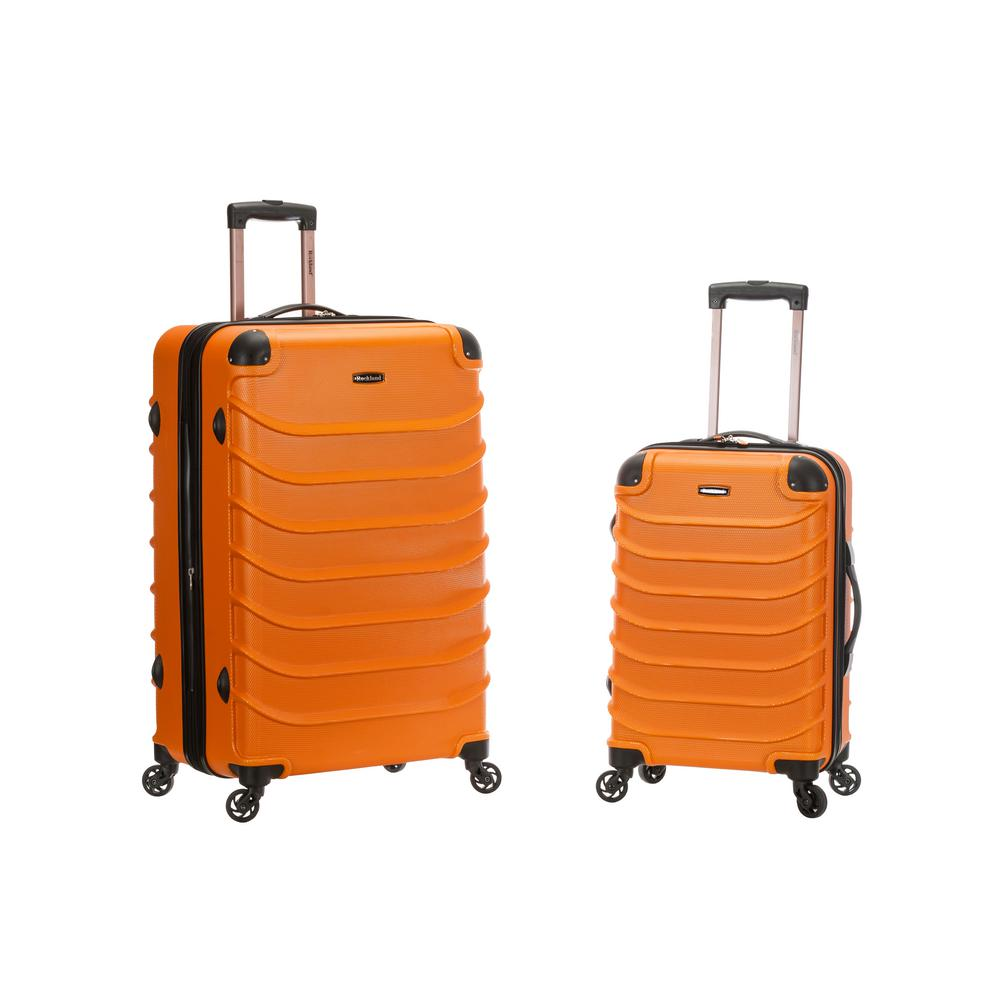 Rockland Expandable Special 2-Piece Hardside Spinner Luggage Set, Orange