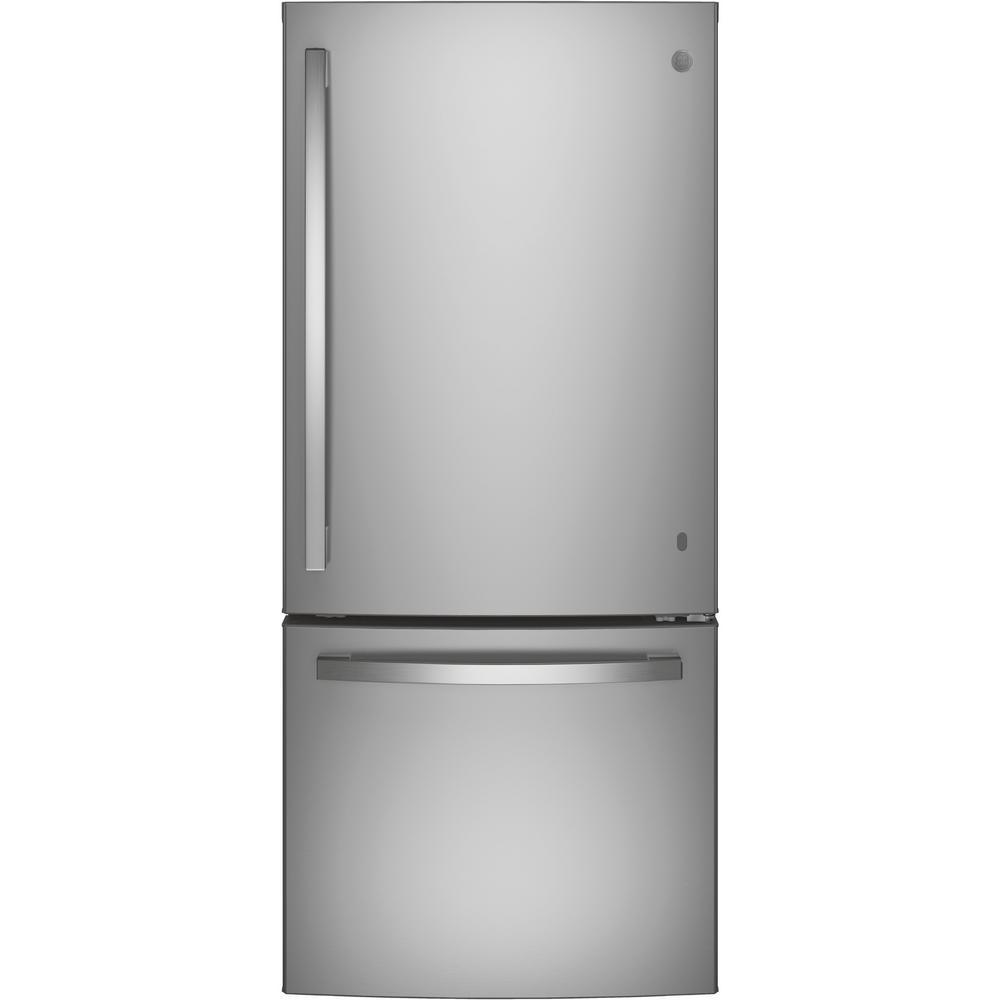 21 cu. ft. Bottom Freezer Refrigerator in Stainless Steel, ENERGY STAR