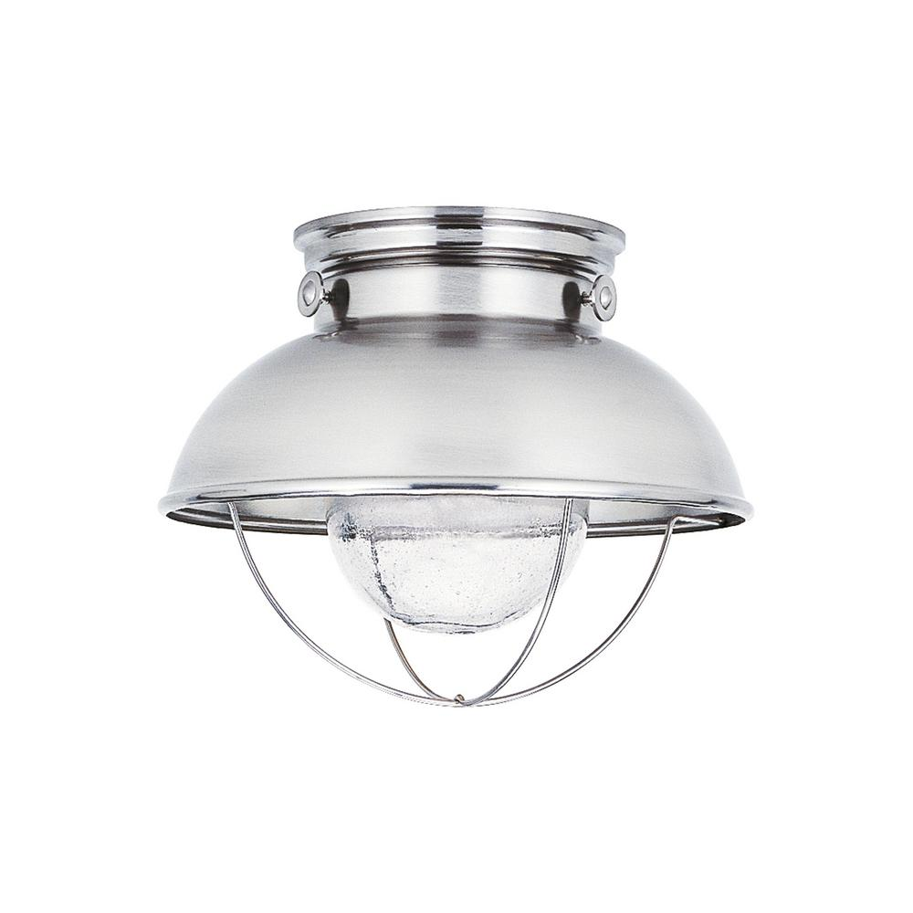 sea gull lighting sebring brushed stainless integrated led outdoor