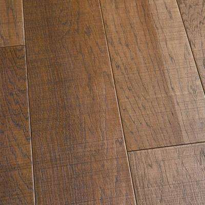Hickory Capistrano 3/8 in. T x 6-1/2 in. W x Varying L Engineered Click Hardwood Flooring (23.64 sq. ft. / case)