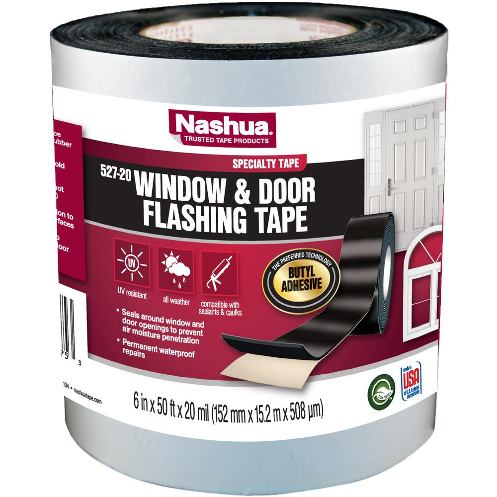 Nashua Tape 6 In X 50 Ft Select Window And Door Flashing Tape 1343003 The Home Depot