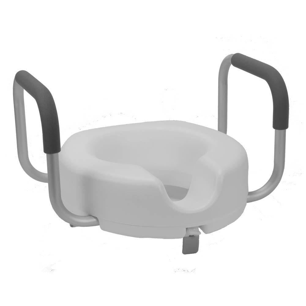 null Roscoe Medical Raised Toilet Seat, Locking with Arms-DISCONTINUED